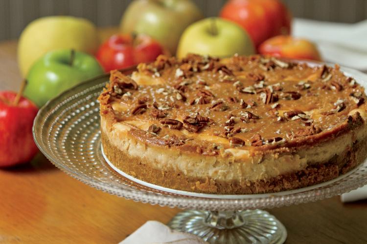 Apple Caramel Cheesecake Recipe