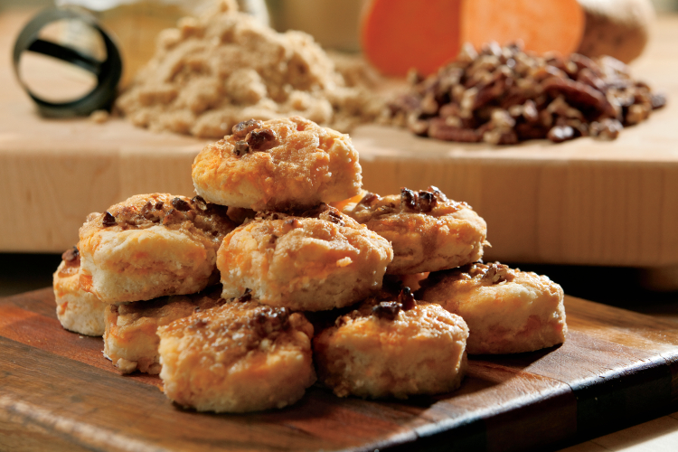 Sweet Potato Casserole Biscuits recipe