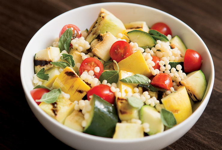 Summer Couscous Salad with Squash and Tomatoes