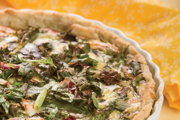 Spring Green and Country Ham Tart