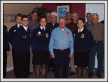 Croatan High School FFA officers and members recently updated Carteret Farm Bureau on their various activities.