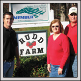 Rudd Farm in Greensboro—run by (from left) Matt, Joan and Kenneth Rudd—is the North Carolina Strawberry Association's Grower of the Year.