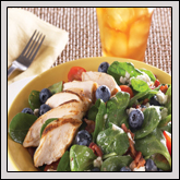 Farm Favorite Recipe: BLUEBERRY AND SPINACH SALAD WITH HOT BACON DRESSING