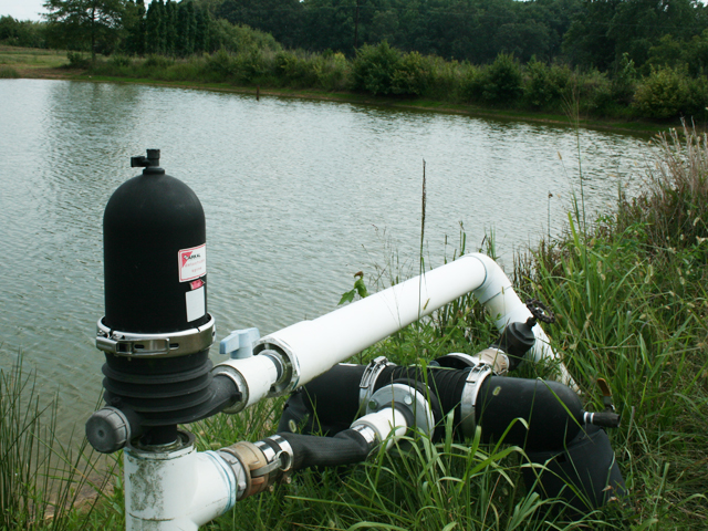 Farm ponds are more than just water north carolina field for Large pond water pump