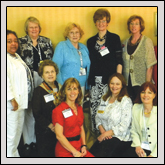 NORTH CAROLINA FARM BUREAU WOMEN'S COMMITTEE sent several members to the American Farm Bureau Women's Leadership Conference in April in Baltimore, Md. Pictured, standing from left to right, are Betty Mathews, Lillie Enoch, Helen Moretz, Betty Wilson, Pearl Freedman, Jackie Pope, Sandra Vann and Eloise Register; and kneeling from left to right, Becky Faulkner, Lorenda Overman, Judy Bare and Donna Vines.