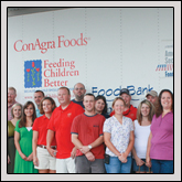 North Carolina Farm Bureau Young Farmers & Ranchers Committee members are leading an effort to collect canned goods for North Carolina in conjunction with Harvest for All.