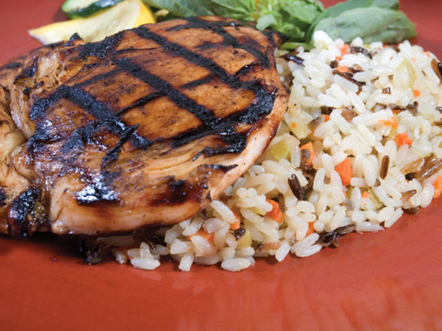 Grilled Chicken and Veggies Over Rice Recipe