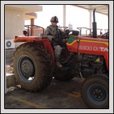 Local farmers can rent tractors and equipment from a farmers' co-op created with micro-grant money.