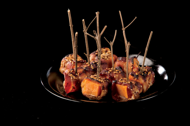 Grilled Bacon-Wrapped Sweet Potatoes
