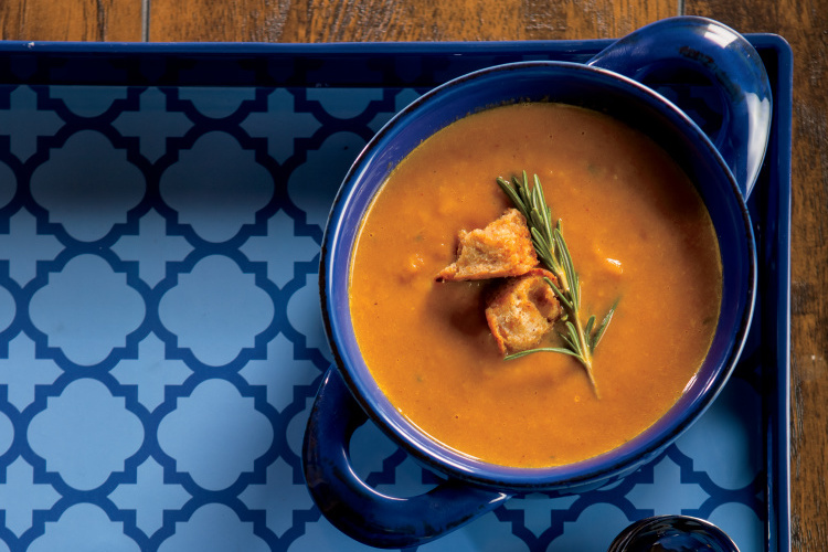 Slow Cooker Sweet Potato Bisque