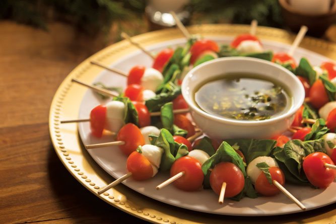 Mini Caprese Salad Kabobs