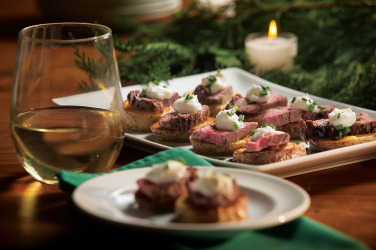 Steak and Potatoes Crostini