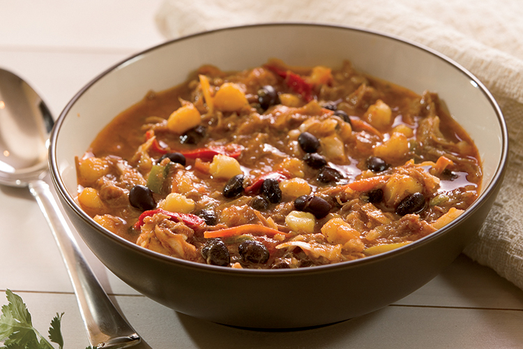 Pork BBQ and Hominy Stew