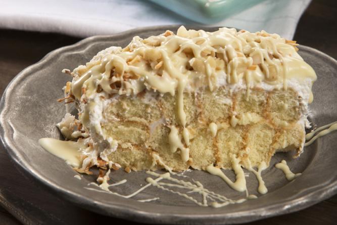 No-Bake Coconut Cream Torte