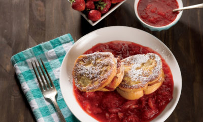 Strawberry and Bacon Stuffed French Toast