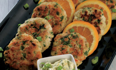 Catfish Cakes with Citrus Butter