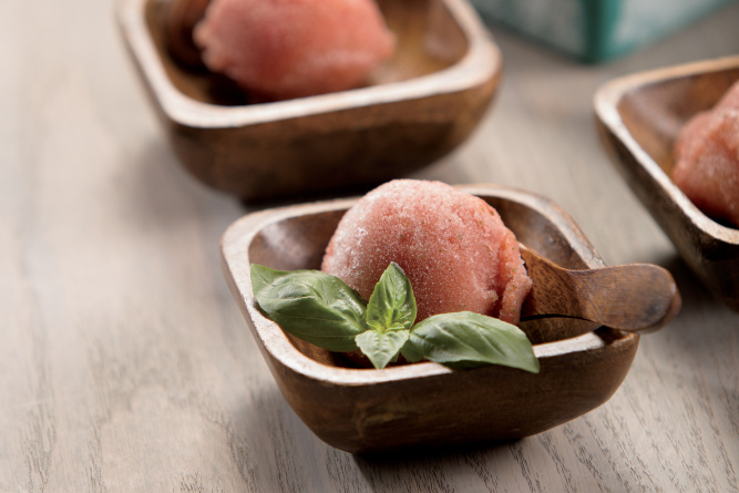 Watermelon Basil Ice