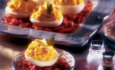 Northwest Deviled Eggs With Apples