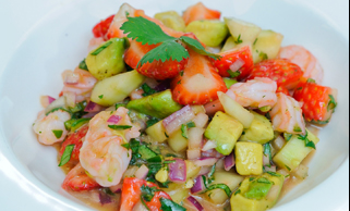 Tangy NC Shrimp and Strawberries Recipe
